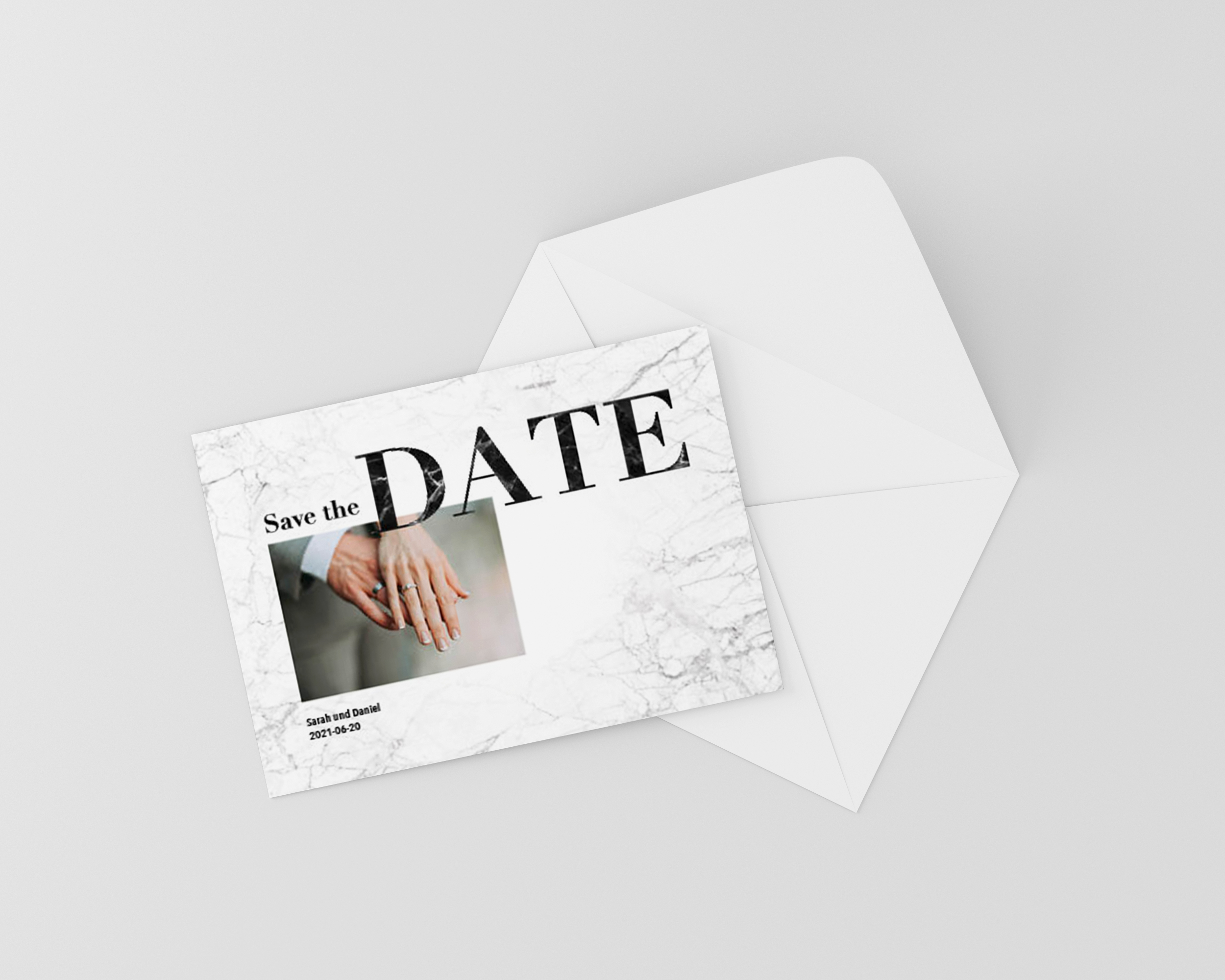 Save the Date Karte Hochzeit Grafit