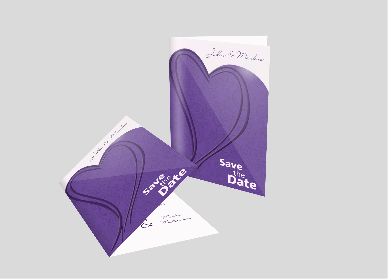 Save-the-Date Karte Hochzeit Schmuckherz