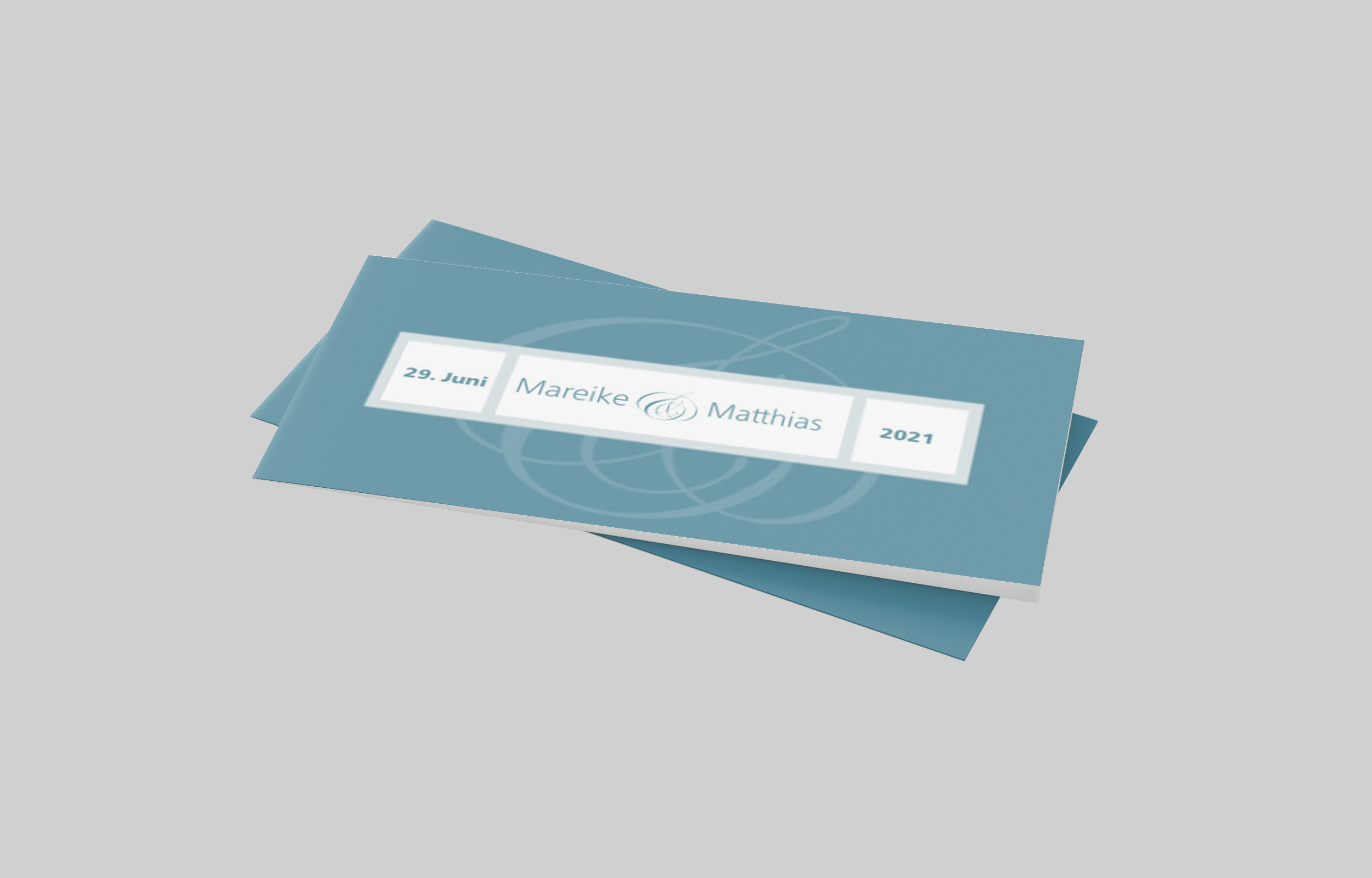 Einladungskarte Silberhochzeit Gradlinig und Fein